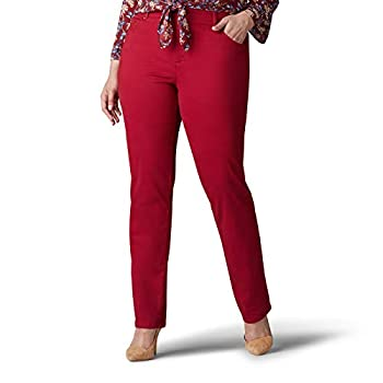 Lee Women s Plus Size Relaxed Fit Straight Leg Jean Rouge 16W Medium