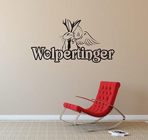 Wandtattoo -Wandaufkleber - Wolpertinger - Fabelwesen - Bayern - Legende - verschiedene Farben und Größen (840 mm x 450 mm, Hellblau)