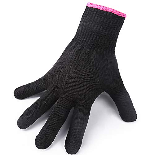 Heat Resistant Gloves for Hair Styling, Teenitor Professional Heat Proof Glove for Hot Curling Iron Wands, Flat Iron, Universal Fit Size