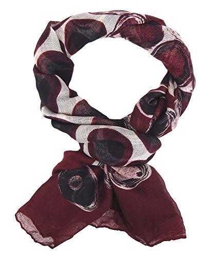 Ella Jonte Damenschal mit Punkte breiter leichter Schal Baumwolle Viskose