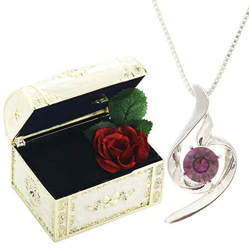 [デバリエ]y441-jw(ame) 2月誕生日プレゼント 女性 人気 彼女 母 贈り物 ネックレス レディース 贈り物 セット品(オルゴール1組 ネックレス1組) ラッピング付