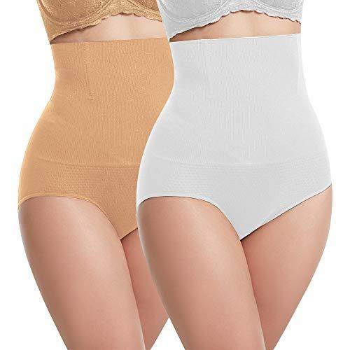 Libella Damen figurenformend Miederslip mit Bauch-weg-Effekt 3608 (2er Pack) Weiß/Haut XL/2XL