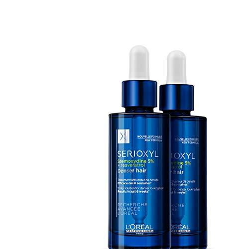 L'Oréal Professionnel Paris Serioxyl Denser Hair Serum, Haarwachstums-Serum, stimuliert Haarwachstum & kräftigt, verdichtet dünner werdendes Haar, Haarpflege gegen Haarausfall, 90 ml
