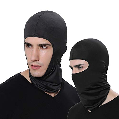 LEAGY Lot de 2 Masques de Ski Ultra Minces pour skieurs Couleur Bonbon, Parfaits sous Un Casque de vélo/Football