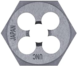 Century Drill & Tool 97618 High Carbon Steel Metric Hexagon Die, 12.0 x 1.50