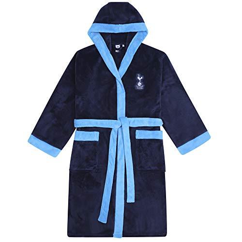 Tottenham Hotspur FC - Herren Fleece-Bademantel mit Kapuze - offizielles Merchandise Fußballfans - Dunkelblau - XL
