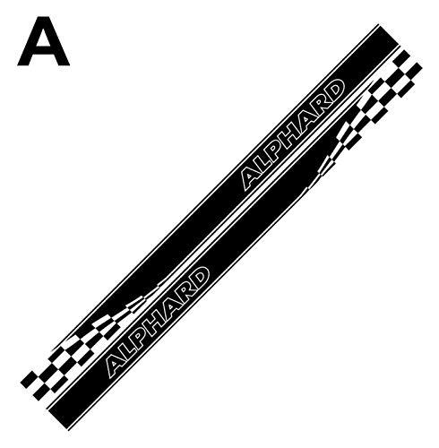 YDL Pegatinas 2 Unids DIY Accesorios para Afinación De Automóviles Coche Lado Modelo Modelo Rayas Racing Deporte Calcomanías Pegatinas para Alphard Vellfire TRD MVP (Color : A, Size : Alphard Letter)