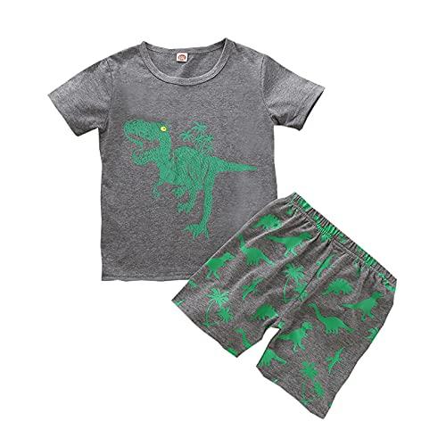 Keepwin Chandal Niño Verano 2021 Estampado Dibujos Animados Conjunto Bebe Niño Ropa Bebe Recien Nacido Niños Camiseta Manga Corta Deportes T-Shirt Tops y Pantalones Cortos Unisex 6 Meses - 4 Años