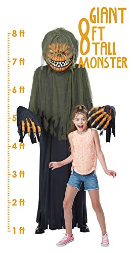 California Costumes Towering Terror Pumpkin - Adult Costume Adult Costume, -black/Green, One Size