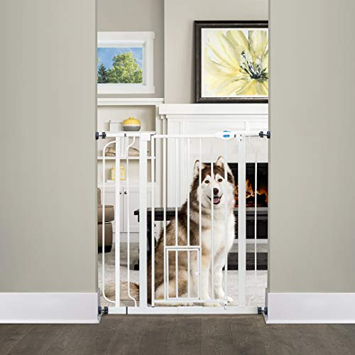 Adjustable Extra Wide Tall Gate with Pet Access