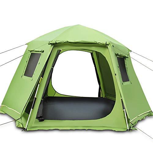 Zelten Family Camp Zelt Freien Außenhilfe Großes Zelt kann 3-4 Personen Geeignet for Beach Garden Camping Fischen Picknick Leichten Camping Beherbergungs (Color : As Shown, Size : One Size)