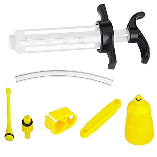 Bestgle自転車ブレーキブリードキット補修用注射器 20ML 多機能 自転車給油ツールセット自転車 油圧ディスクブレーキ 自転車用工具セット