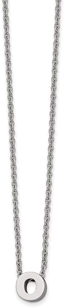 Ryan Jonathan Fine Jewelry Stainless Letter Chicago Mall Popular O Necklace 18 Steel