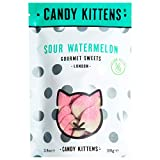 Candy Kittens Sour Watermelon Vegan Sweets - Palm Oil Free, Natural Fruit Flavour Candy - Gummy Chewy Gourmet Sweets, 108g (Snacking Bag)