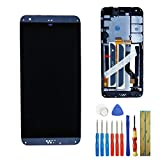 for HTC A16 Desire 530 D530g D530u Replacement LCD Touch Screen Assembly (Gray) with Frame + Adhesive & Tools