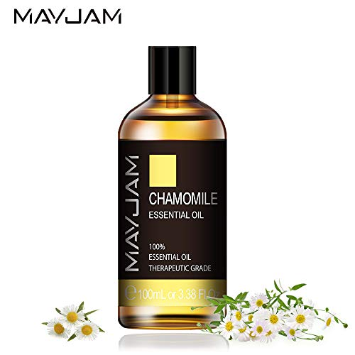 MAYJAM Chamomile Essential Oils 100ml, 100% Pure Natural Essential Oils, Therapeutic-Grade Aromatherapy Essential Oil, Fragrance Oils for Diffuser, Humidifier, Relax, Sleep, Perfect Gifts