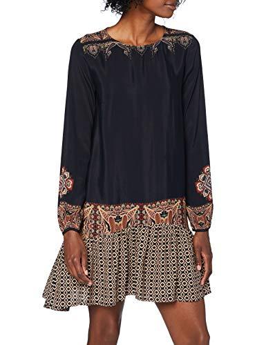 Desigual Damen Vest_praga Casual Dress, Schwarz, XL EU