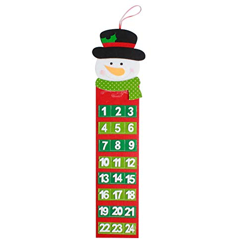 NAttnJf Navidad Cuenta atrás Calendario de Adviento Adornos Colgantes Decoración de Fiesta de Navidad Monigote de Nieve