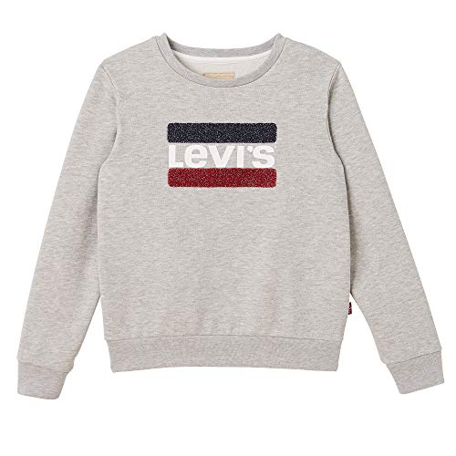 Levi's kids Nn15527 Sweat Shirt Sudadera, Gris (Light China Grey 22), 16 años (Talla del Fabricante: 16Y) para Niñas