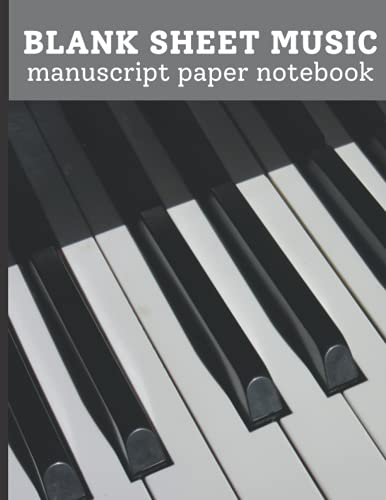 Music Notebook - 13 Staff: Music Writing Notebook For Beginners   Blank Sheet Music Notebook   Blank Manuscript Paper   13 Staves Per Page
