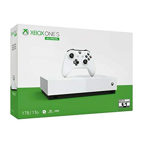 Console Xbox One S - 1 Terabyte + HDR + 4K Streaming All Digital (Sem Jogos)