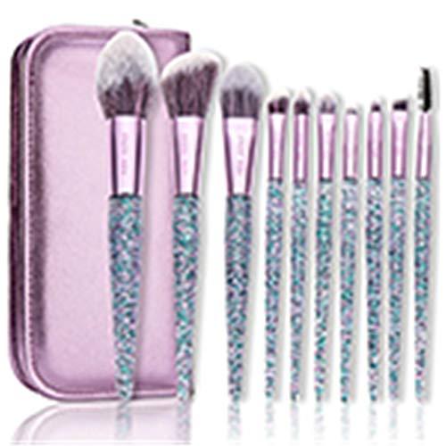 Wink Make-upkwastenset, 10 stuks, foundation, blush, poeder, blend, oogschaduw, make-upkwast, Russische opvoerpenseel met tas