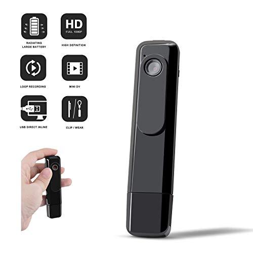 HD 1080P Mini Cuerpo cámara HD Oculto Spy CAM Wearable cámara con Cuerpo Clip portátil cámara desgastada ( Color : +8G Memory Card )