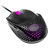 Cooler Master MM720 Black Matte Lightweight Gaming Mouse with Ultraweave Cable, 16000 DPI Optical Sensor, RGB and Unique Claw Grip Shape