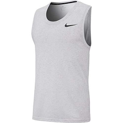 Nike Mens Breathe Training Tank White/HTR/Black S
