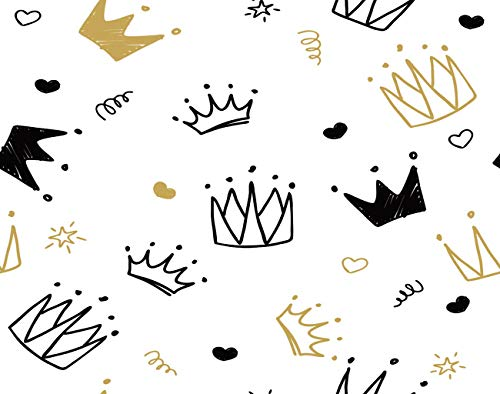 MQPPE Doodle Crowns 5D DIY Diamond Painting Kits, Cute Baby and Little Princess Fashion Girl Abstract Full Drill Painting Arts Set Craft Canvas for Home Wall Decor Adults Kids, 12' x 16'