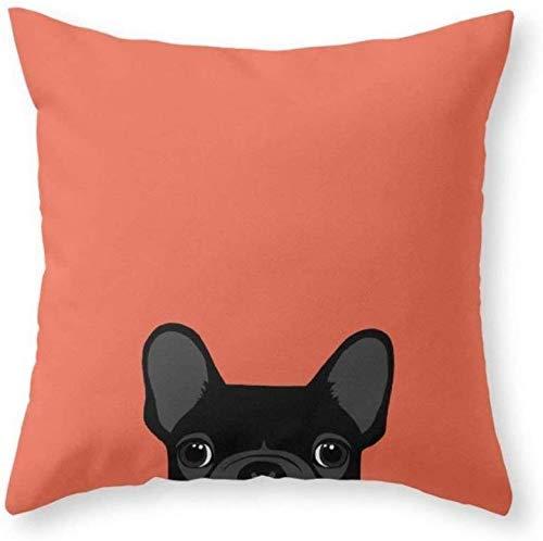 Funda de almohada de Bulldog Francés, personalizada, funda de almohada, funda de cojín, cuadrada, 45 x 45 cm