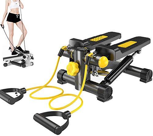 2 In1 Stepper Mit Power Seile, Body Sculpture Lateral Twist Stepper, Hydraulische Mini Weight Loss Schlanke Beine Kunststoff-Fitnessgeräte Startseite