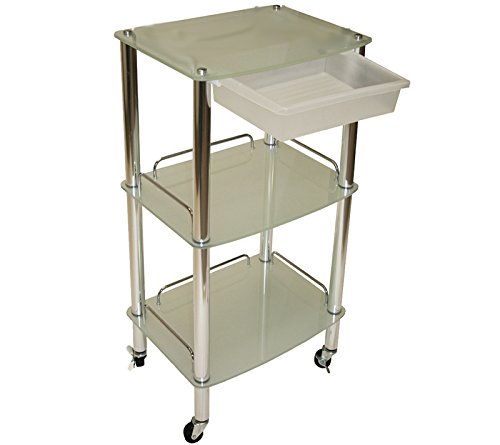 New Glass Cart Trolley Dentist Doctor Medical Kitchen Tattoo Salon Spa Equipment