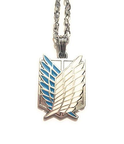 giulyscreations Halskette Metall Nickel Free Attack On Titan Flügel für die Freiheit des Giganti Shinjeki No Kyojin Armata Ricognitiva Wall Maria Fantasy Cosplay