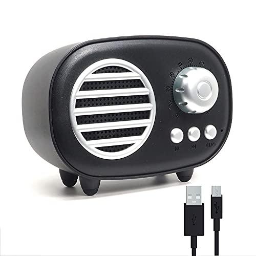 RAYPOW Altavoz Bluetooth Retro, Radio Portátil Pequeña Vintage para el hogar · Permite conexión con Tarjeta TF/SD, USB, Auxiliar y Bluetooth · Micrófono Incorporado para atender Llamadas