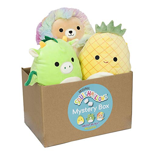 """Squishmallow Official Kellytoy Plush 8"""" Plush Mystery Box Three Pack - Styles Will Vary in Surprise 8"""" Plush Box That Includes Three 8"""" Plush"""