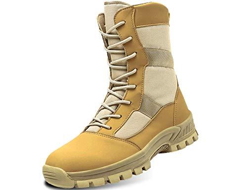 IYVW G20133 Botas militares masculinas, botas de deserto, tênis de escalada, botas de combate para treinamento ao ar livre Amarillo Desierto 41 EU