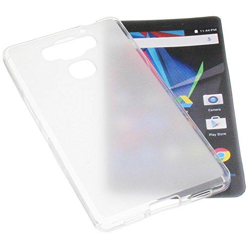 foto-kontor Tasche für Archos Diamond 2 Plus Gummi TPU Schutz Handytasche transparent weiß