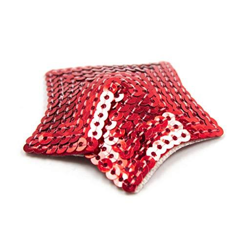 CXQ Dress Damen Nachtclub Tanzzubehör Pailletten T-Shirt (Color : Red)