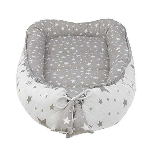 Nido Felice cunas - Reductor De Cuna Reversible|Seguro i Multifuncional Fabricado en la UE Certificado OEKO-TEX®|Universal,Paragolpes ergonómico para el bebé |Cambiador|