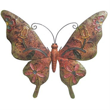 """Very Cool Stuff Rusted Metal Butterfly Wall Art, 20"""""""