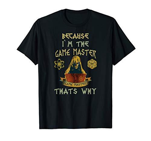 GAME Master Pen and Paper RPG W20 Würfel D20 Dice Set Spiele T-Shirt