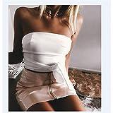 LJLLINGA Falda de Cintura Alta a la Moda para Mujer, Minifal