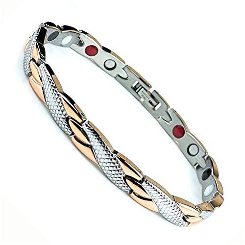 WEFRIN Magnetic Bracelets for Women Men Arthritis Weight Loss Bracelet for Women Magnet Therapy for Pain Ring Tunnel Relief