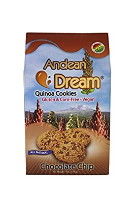 Andean Dream Chocolate Chip Quinoa Cookies, Gluten & Corn Free , 7 Ounce Boxes (Pack of 3)