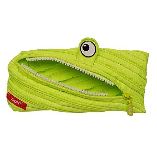 Zipit, astuccio realizzato con un'unica zip lunga, di colore verde lime, ZTM-BEN-1 Monster, verde tiglio