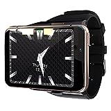 Smart Watch GPS 4G WiFi Relojes 2.88 Pulgadas Pantalla táctil Bluetooth Sports Dual Cámara Gaming Watch para Hombres Mujeres (Color : Gold)