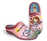 Zapatillas Rosas Estar por casa cómoda Mujer. Frase Bonita y Positiva (Numeric_39)