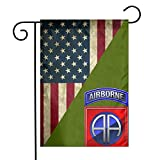 Antfeagor 82nd Airborne Division Veteran Garden Flag Double Garden Flag 12.5¡Á18 Inch Flag Double Sided Vertical Garden Flags for Yard Front Porch Home Garden and House Decor (Without Flagpole)
