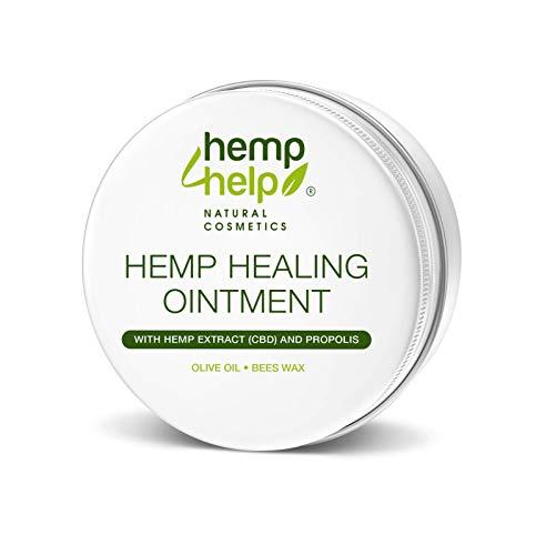 Universal Hanf-SALBE Hautpflege bei Schuppenflechte, Neurodermitis geeignet.Mit BIO-Hanfsamenöl, PROPOLIS unraffiniert und Bienenwachs 100ml. Für die intensive Haut-Pflege als Körper Wund-Heil Salbe